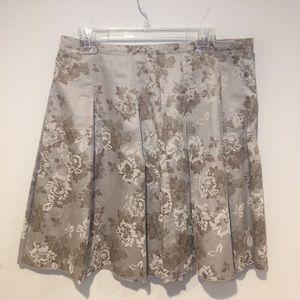 New York & Co Jacquard Midi Skirt Size 12 Preowned